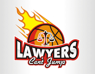 "charity basketball event logo (name with logo is ""lawyers can't jump"") - Entry #6"