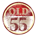 """""""OLD 55"""" - mid-century vintage furniture and wares store Logo - Entry #86"""