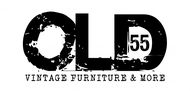"""""""OLD 55"""" - mid-century vintage furniture and wares store Logo - Entry #153"""