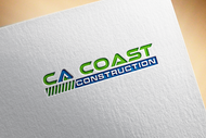CA Coast Construction Logo - Entry #185