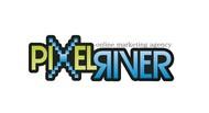 Pixel River Logo - Online Marketing Agency - Entry #168