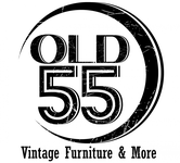 """""""OLD 55"""" - mid-century vintage furniture and wares store Logo - Entry #173"""