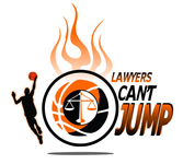 "charity basketball event logo (name with logo is ""lawyers can't jump"") - Entry #29"