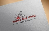 Man on fire welding Logo - Entry #71
