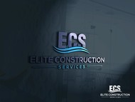 Elite Construction Services or ECS Logo - Entry #186