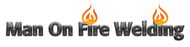 Man on fire welding Logo - Entry #40