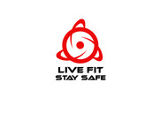 Live Fit Stay Safe Logo - Entry #172