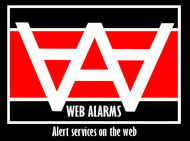 Logo for WebAlarms - Alert services on the web - Entry #21