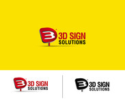 3D Sign Solutions Logo - Entry #171