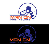 Man on fire welding Logo - Entry #32