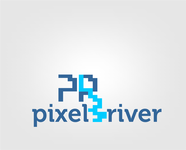 Pixel River Logo - Online Marketing Agency - Entry #152