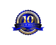Advantage Contracting 10th Year in Business Logo - Entry #11