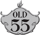 """""""OLD 55"""" - mid-century vintage furniture and wares store Logo - Entry #14"""