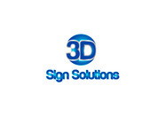 3D Sign Solutions Logo - Entry #14