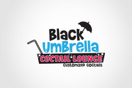 Black umbrella coffee & cocktail lounge Logo - Entry #159