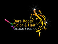Bare Roots Color & Hair Design Studio Logo - Entry #30