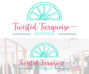 Twisted Turquoise Boutique Logo - Entry #84