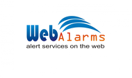 Logo for WebAlarms - Alert services on the web - Entry #33