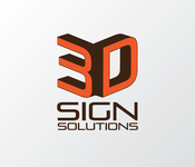 3D Sign Solutions Logo - Entry #101