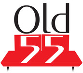 """""""OLD 55"""" - mid-century vintage furniture and wares store Logo - Entry #87"""