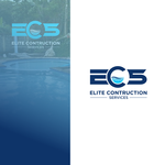 Elite Construction Services or ECS Logo - Entry #45