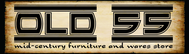 """""""OLD 55"""" - mid-century vintage furniture and wares store Logo - Entry #233"""