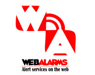 Logo for WebAlarms - Alert services on the web - Entry #55