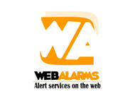 Logo for WebAlarms - Alert services on the web - Entry #56