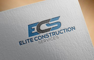 Elite Construction Services or ECS Logo - Entry #182