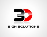 3D Sign Solutions Logo - Entry #138