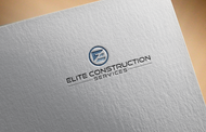 Elite Construction Services or ECS Logo - Entry #40