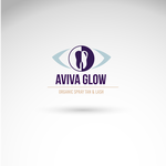 AVIVA Glow - Organic Spray Tan & Lash Logo - Entry #113