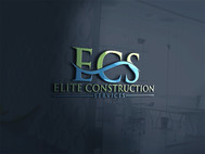 Elite Construction Services or ECS Logo - Entry #102