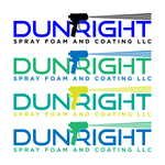 Dun Right Spray Foam and Coating LLC Logo - Entry #71