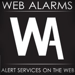 Logo for WebAlarms - Alert services on the web - Entry #119