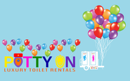 Potty On Luxury Toilet Rentals Logo - Entry #84