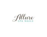 Allure Spa Nails Logo - Entry #44