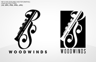 Woodwind repair business logo: R S Woodwinds, llc - Entry #112