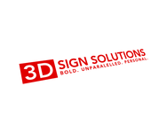 3D Sign Solutions Logo - Entry #170