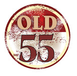 """""""OLD 55"""" - mid-century vintage furniture and wares store Logo - Entry #106"""