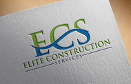 Elite Construction Services or ECS Logo - Entry #106