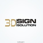 3D Sign Solutions Logo - Entry #116