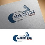 Man on fire welding Logo - Entry #38
