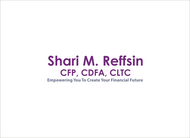 I do not want a brandname in my logo.  If anything, Shari M. Reffsin, CFP, CDFA, CLTC - Entry #66