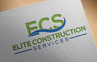 Elite Construction Services or ECS Logo - Entry #240