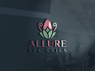 Allure Spa Nails Logo - Entry #51