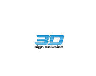 3D Sign Solutions Logo - Entry #71
