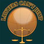 "charity basketball event logo (name with logo is ""lawyers can't jump"") - Entry #17"