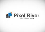 Pixel River Logo - Online Marketing Agency - Entry #98