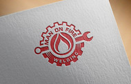 Man on fire welding Logo - Entry #3